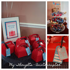 Birthday Favor Boxes by Airplane The Favor Boxes Tags Baggage Claim