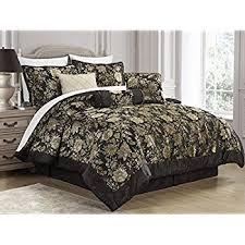 Queen Size Bed In A Bag Comforter Sets Amazon Com Nanshing America Pastora 7 Piece Queen Comforter Set