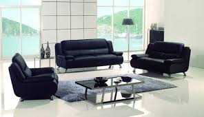 ae733 b black leather sofa set 3 pcs slick furniture online store ae733 b black leather sofa set 3 pcs
