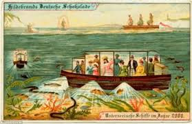 vintage postcards reveal how victorians predicted future of travel
