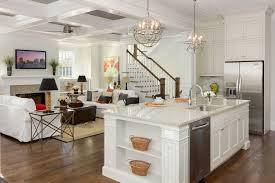 kitchen round kitchen chandelier with pillar candles over white