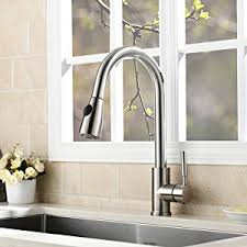 discount faucets kitchen vapsint modern stainless steel single handle single pull out