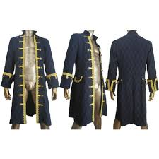 Captain Halloween Costume Pirates Caribbean Captain Armando Salazar Coat Cosplay