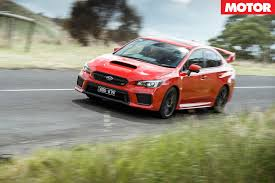 sti subaru red 2018 subaru wrx sti spec r review motor