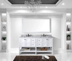 72 Double Sink Bathroom Vanity by Virtu Usa 72 Inch Winterfell Double Sink Vanitiy In White