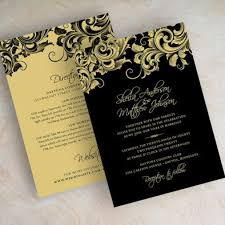 black and gold wedding invitations innovative gold wedding card black and gold wedding invitations as