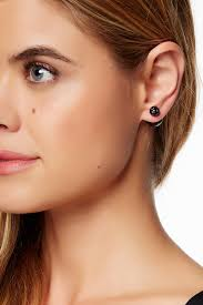 sided stud earrings simulated black pearl sided stud earrings nordstrom rack