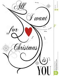 all i want for christmas is you stock photo image 63087293