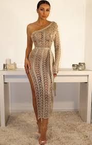 gold maxi dress metallic knit gold one shoulder maxi dress store