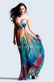 colorful dress teenagers evening dresses