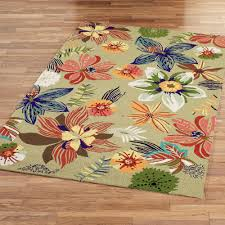 Rugs Outdoor Four Seasons Tropical Floral Indoor Outdoor Rugs