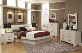 off white bedroom furniture low profile brown hardwood bedframe