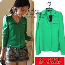 green womens blouse 2018 wholesale s 5xl plus size womens tops fashion 2015