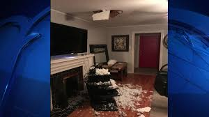 Media Room Ceiling Fort Worth Man Left With Hole In Ceiling After Satellite