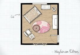 Nursery Floor Plans Baby Nursery Room Layouts Wayfair