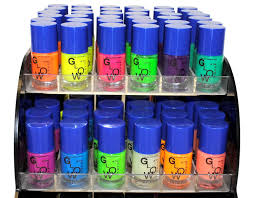 amazon com 12 color glow in the dark nail lacquer nail polish