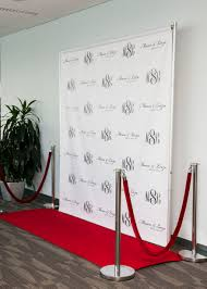 custom photo backdrops step and repeat backdrop custom monograms company logos