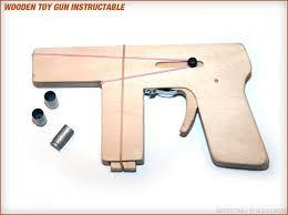 make a toy wood gun that shoots 9mm brass casings 10 steps