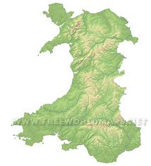 Where Is Wales On The World Map by Wales Physical Map