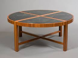 round coffee table with green marble for sale at 1stdibs