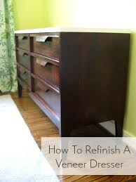 how to refinish a desk nursery progress how to refinish a veneer dresser young house love