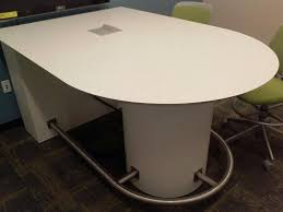 D Shaped Conference Table Counter Height White Conference Table D Shape With Power And Foot