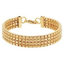 beaded chain bracelet images Women 39 s beaded box chain bracelet gold size 11mm 7 5 quot target
