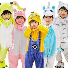 children s pajamas flannel autumn baby animal pajamas one