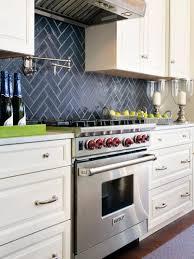 kitchen contemporary white glass tile backsplash rustic