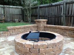 Outdoor Firepit Kit Pit Kit How To Build A Cheap Outdoor Bricks Lowes Paver