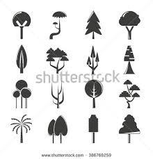 tree symbol vector set tree icons park icons stock vector 386769259 shutterstock