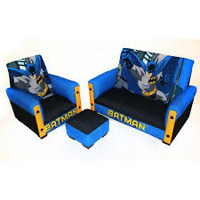 batman 3 piece sofa chair and ottoman set walmart com