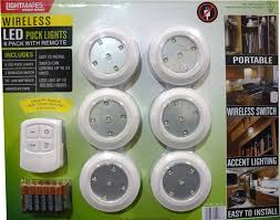 puck lights with remote lightmates led wireless puck lights with remote batteries 6 pack