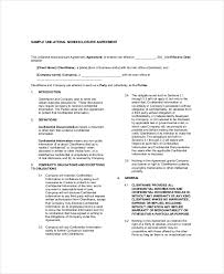 8 non disclosure and confidentiality agreement templates u2013 free