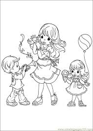 printable 14 precious moments family coloring pages 7287