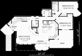 Master Suite Floor Plan View Home Sloping Lot Multi Level House Plan 3d Home 360 View