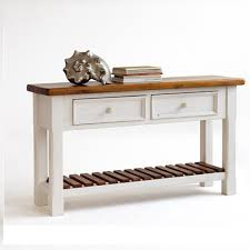 Pine Console Table Boddem Console Table White Pine Cottage Style 25346