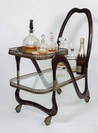 liquor table rare cesare lacca italian liquor push cart for sale at 1stdibs