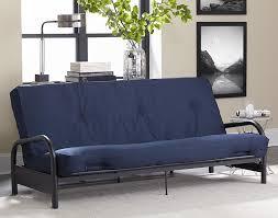 Futon Bed With Mattress Amazon Com Dhp 8 Inch Cotton Twill Futon Mattress Tufted Design
