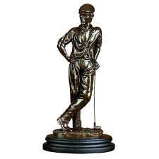 golf statues home decorating golf statues home decor bronze colored golfer statue a golf lovers