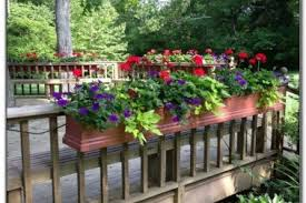 30 full sun planter ideas deck ideas for deck railing planters