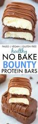 diy protein bars homemade no bake bounty protein bars paleo vegan gluten free