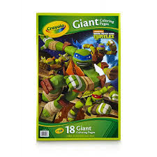 crayola teenage mutant ninja turtles giant coloring pages