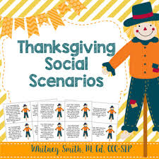thanksgiving social stories for autism and speech therapy by