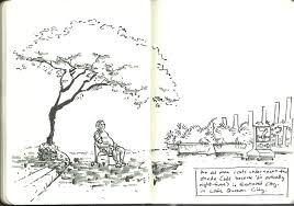 ryan sumo u0027s blog urban sketching man under tree 2
