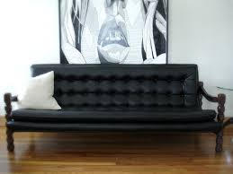 Black Tufted Sofa by Mid Century Vintage Black Vinyl Tufted Sofa And Loveseat By