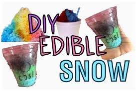 diy edible snow colorful snow cool crafts for kids 2016 youtube