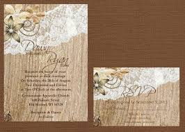 rustic lace wedding invitation lace and wood wedding invitation