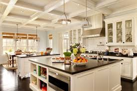 coffered ceiling kitchen kitchen traditional with wood cabinet