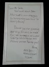montessori writing paper david bruce smith publications montessori elementary students thank you letter from the alef bet montessori school